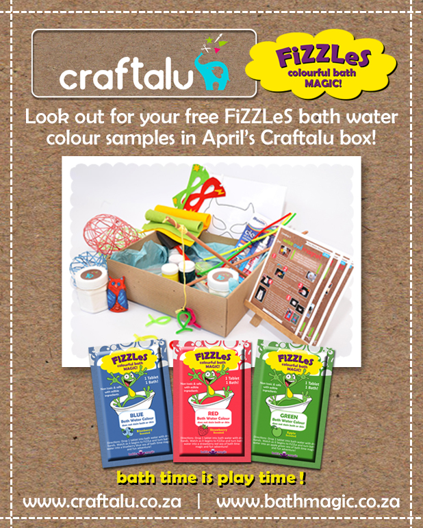 Free FiZZLeS Samples in the April Crafalu Craft Box!