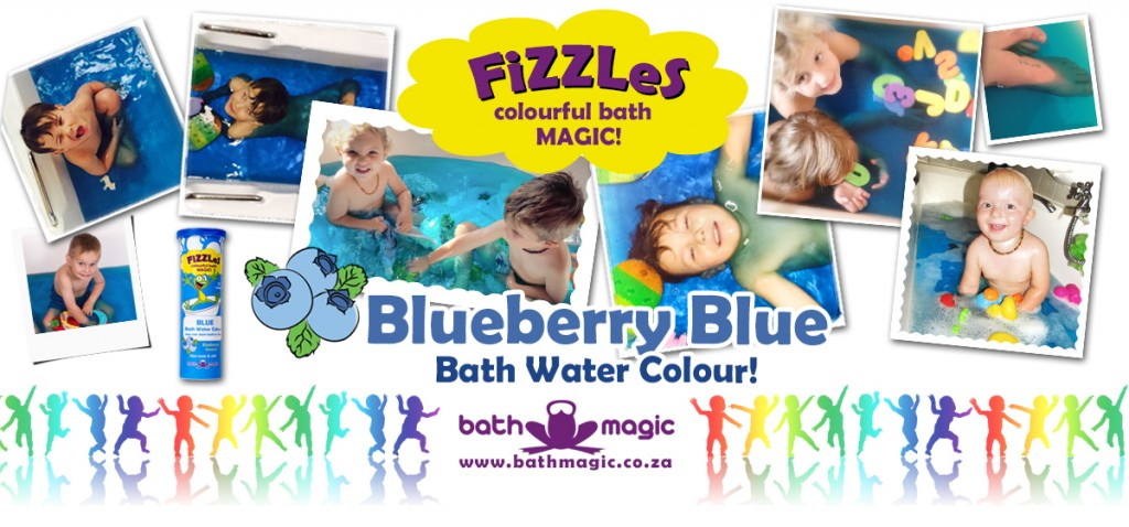 Bath Magic FiZZLeS Blueberry Blue Bath Water colours