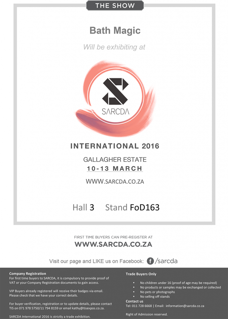 SARCDA International 2016 Bath Magic FiZZleS Exhibitor